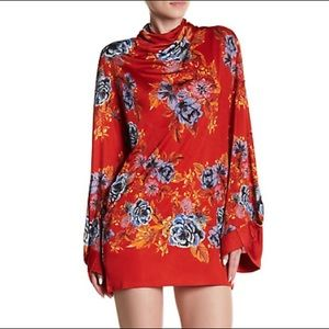 Free People 2 am floral long sleeve dress
